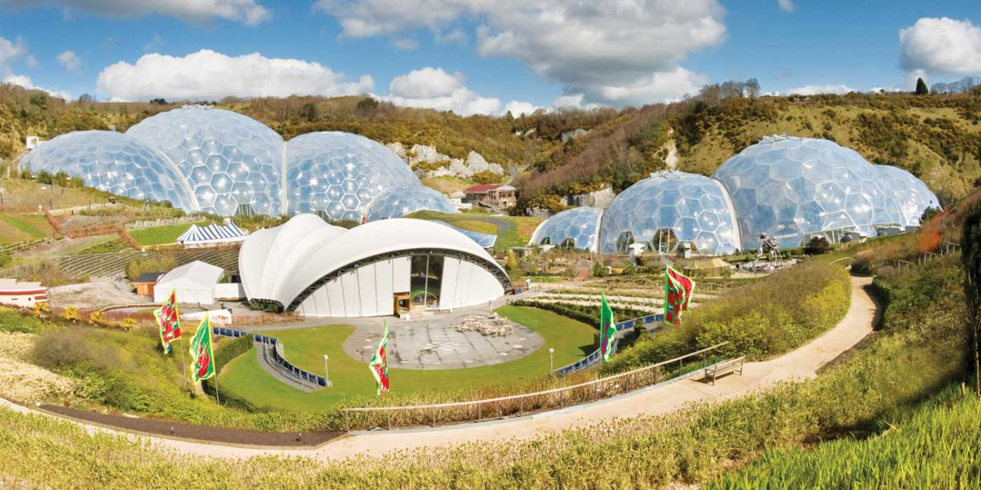 Eden project domes - image copyright the Eden Project